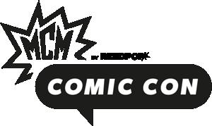 Mcm comic con logo.